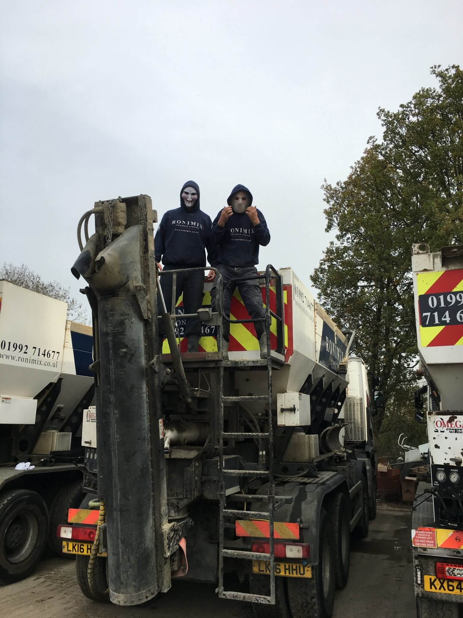 Ronimix Concrete Trick or Treaters on the back one of our volumetric concrete lorries 02 2017